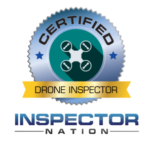 drone uas training for faa commercial pilot exam inspector nation certified home inspector badge emblem icon