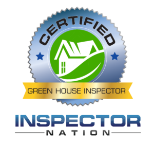 greenhouse green building inspector inspector nation certified home inspector badge emblem icon