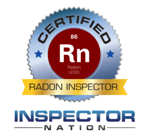 radon measurement professional standard analytical specialist inspector nation certified home inspector badge emblem icon