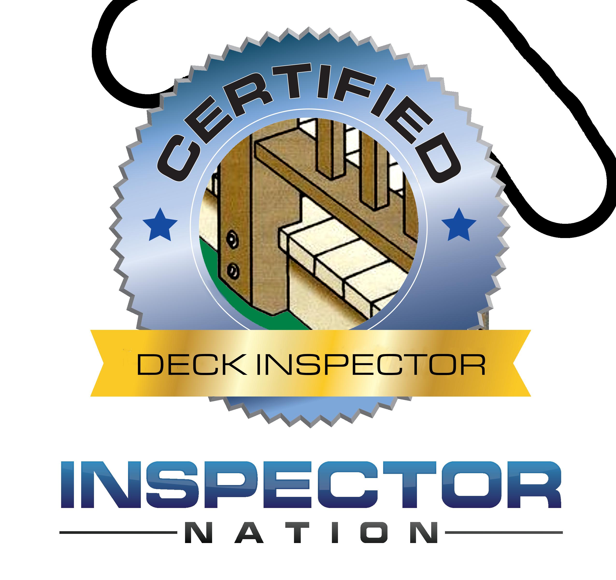 deck inspector inspector nation certified home inspector badge emblem icon