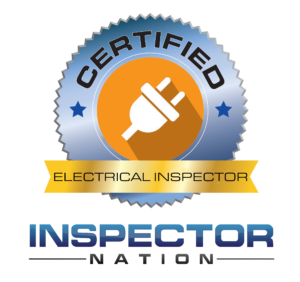 electrical and electrical safety inspector inspector nation certified home inspector badge emblem icon