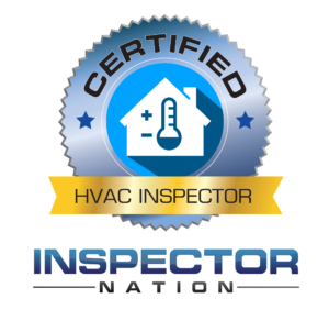hvac heating cooling air conditioning inspector heat pump inspector nation certified home inspector badge emblem icon