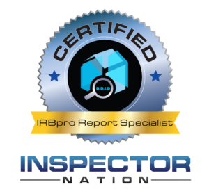 inspection report building IRBpro software report writing specialist inspector nation certified home inspector badge emblem icon