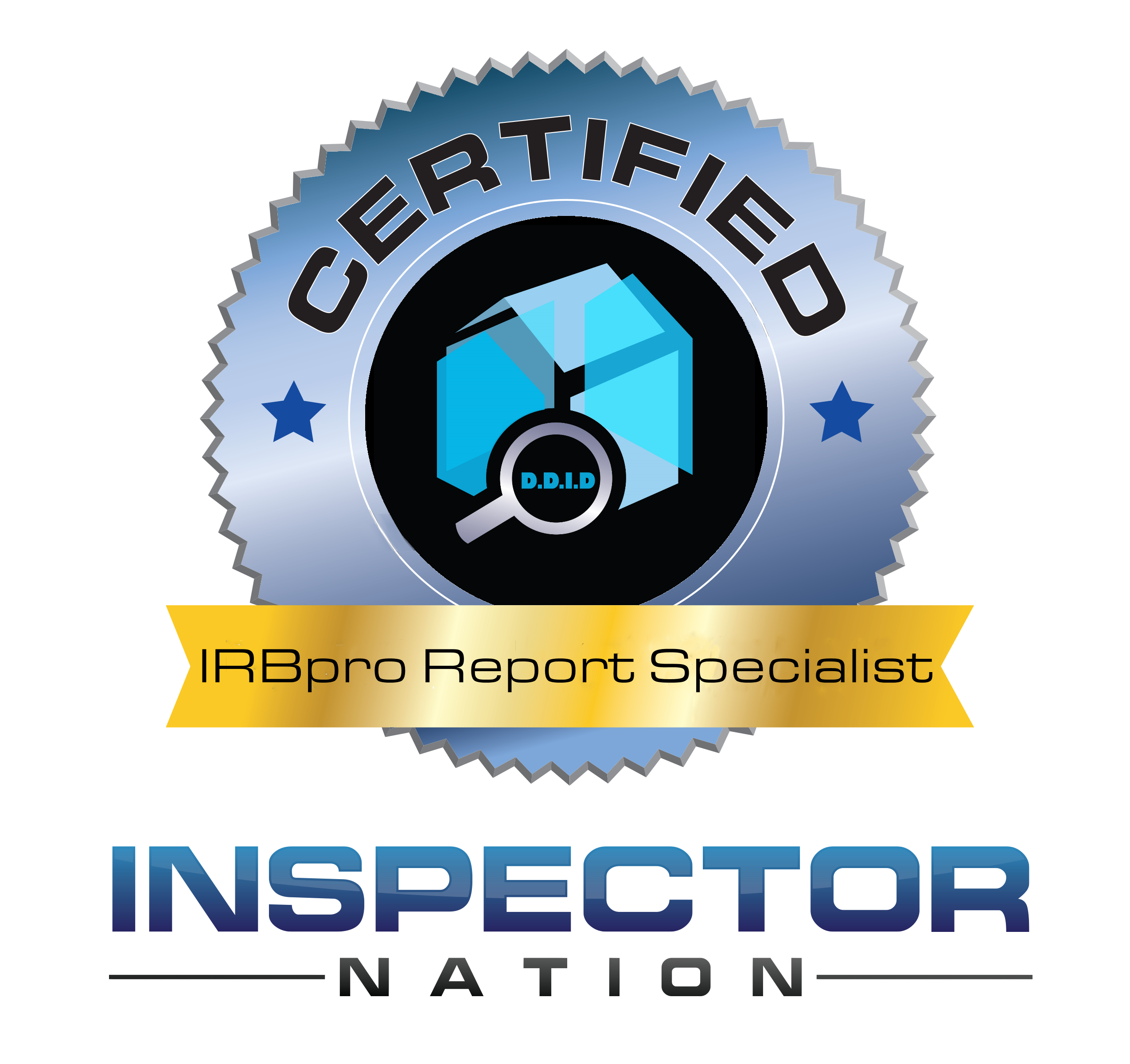 irbpro software report specialist inspector nation certified home inspector badge emblem icon