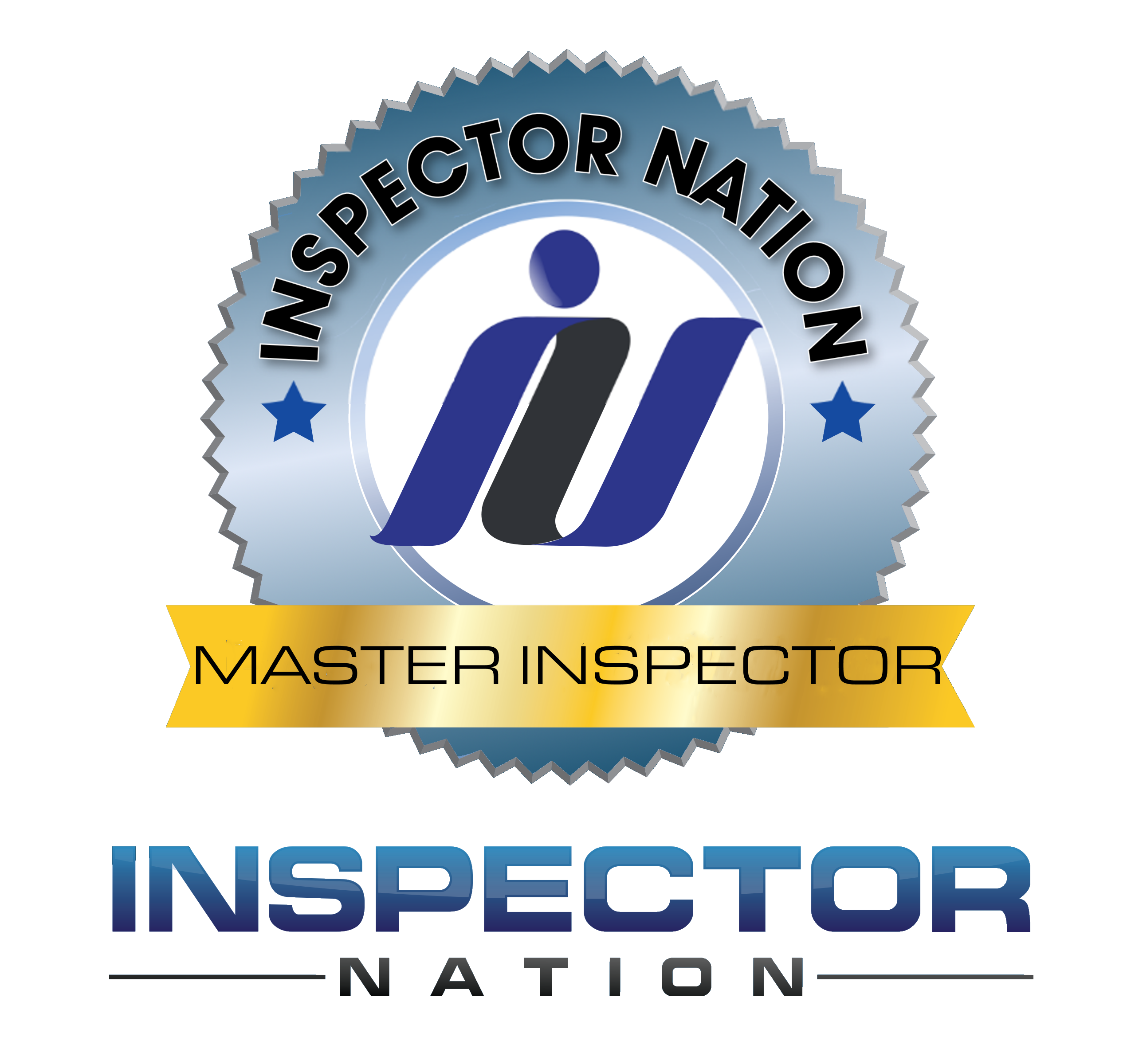 inspector nation master inspector inmi ini  inspector nation certified home inspector badge emblem icon