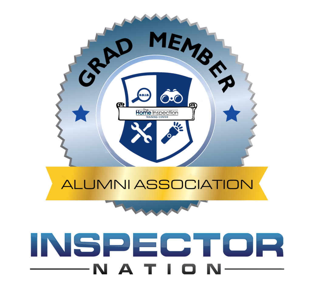 the home inspection training center alumni association graduate of the home inspection training center (thitcenter) prelicensing education program inspector nation certified home inspector badge emblem icon