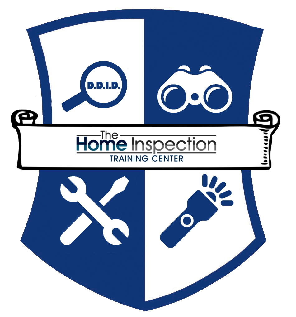 graduate of the home inspection training center (thitcenter) prelicensing education program inspector nation certified home inspector badge emblem icon