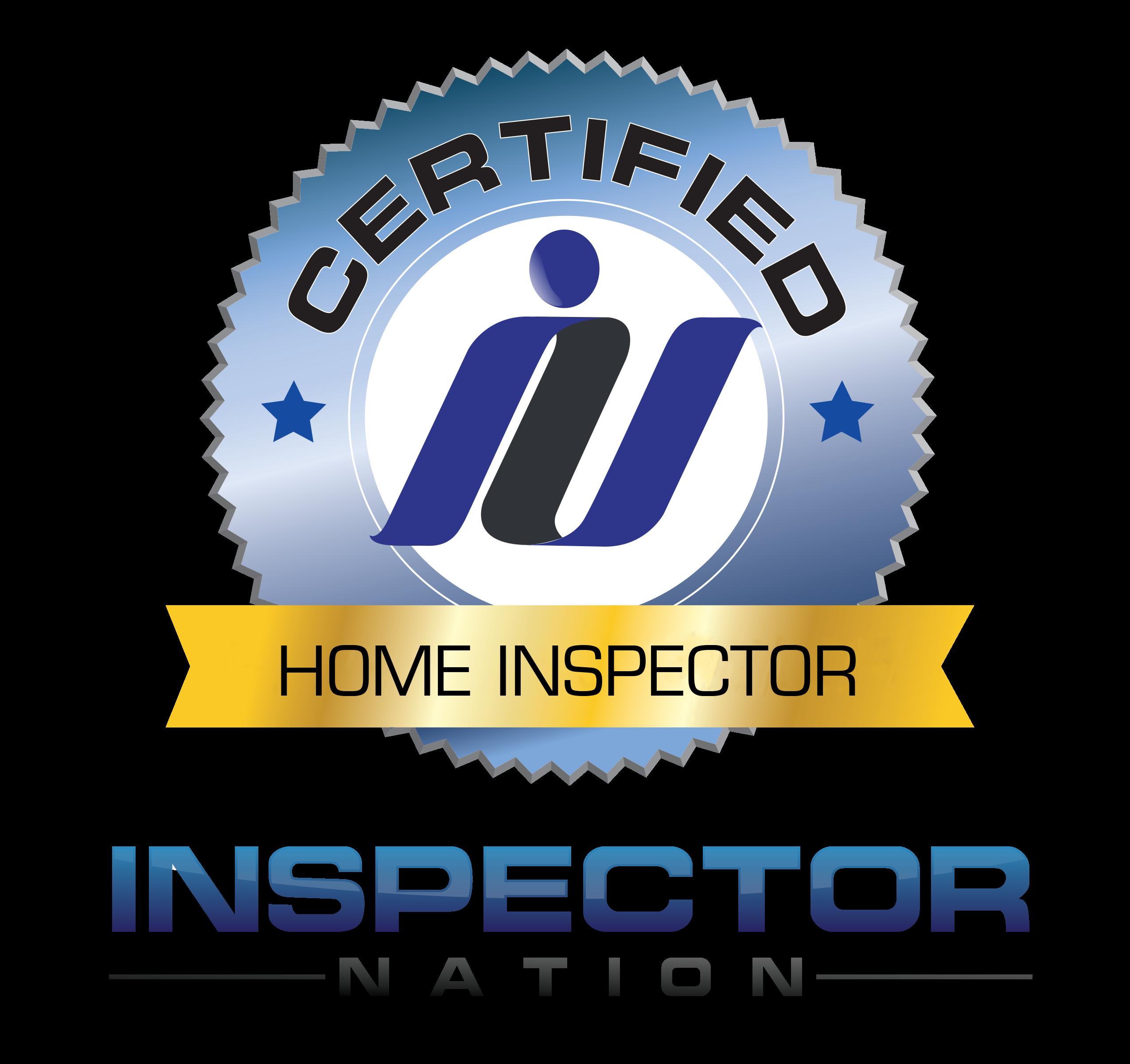 inspector nation certified home inspector badge emblem icon