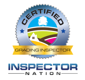 grading inspector inspector nation certified home inspector badge emblem icon