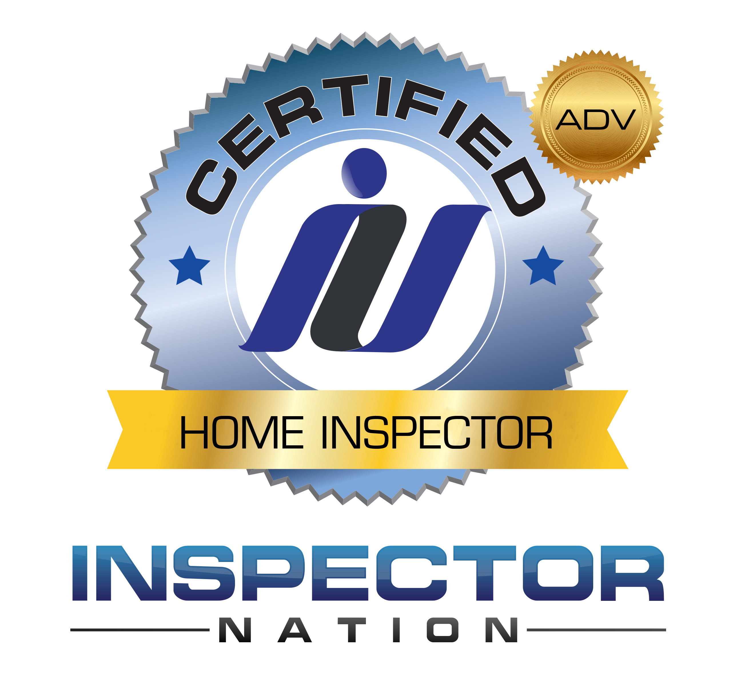 advanced  inspector nation certified home inspector badge emblem icon