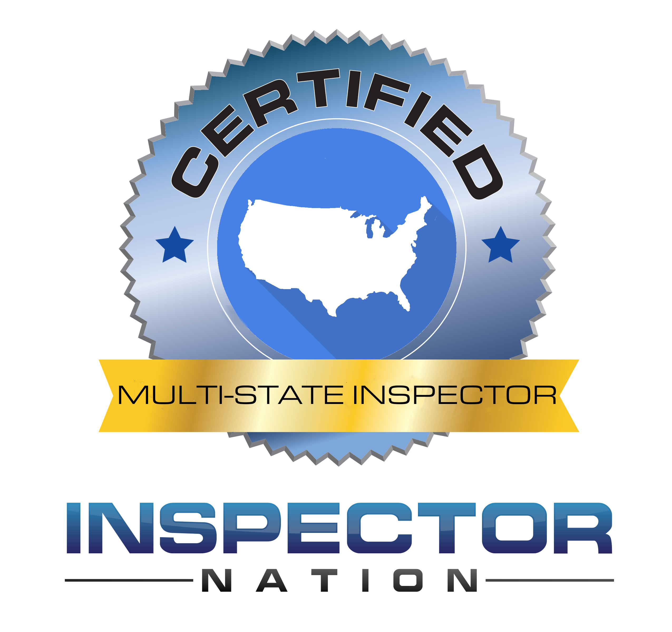 multi-state inspector nation certified home inspector badge emblem icon