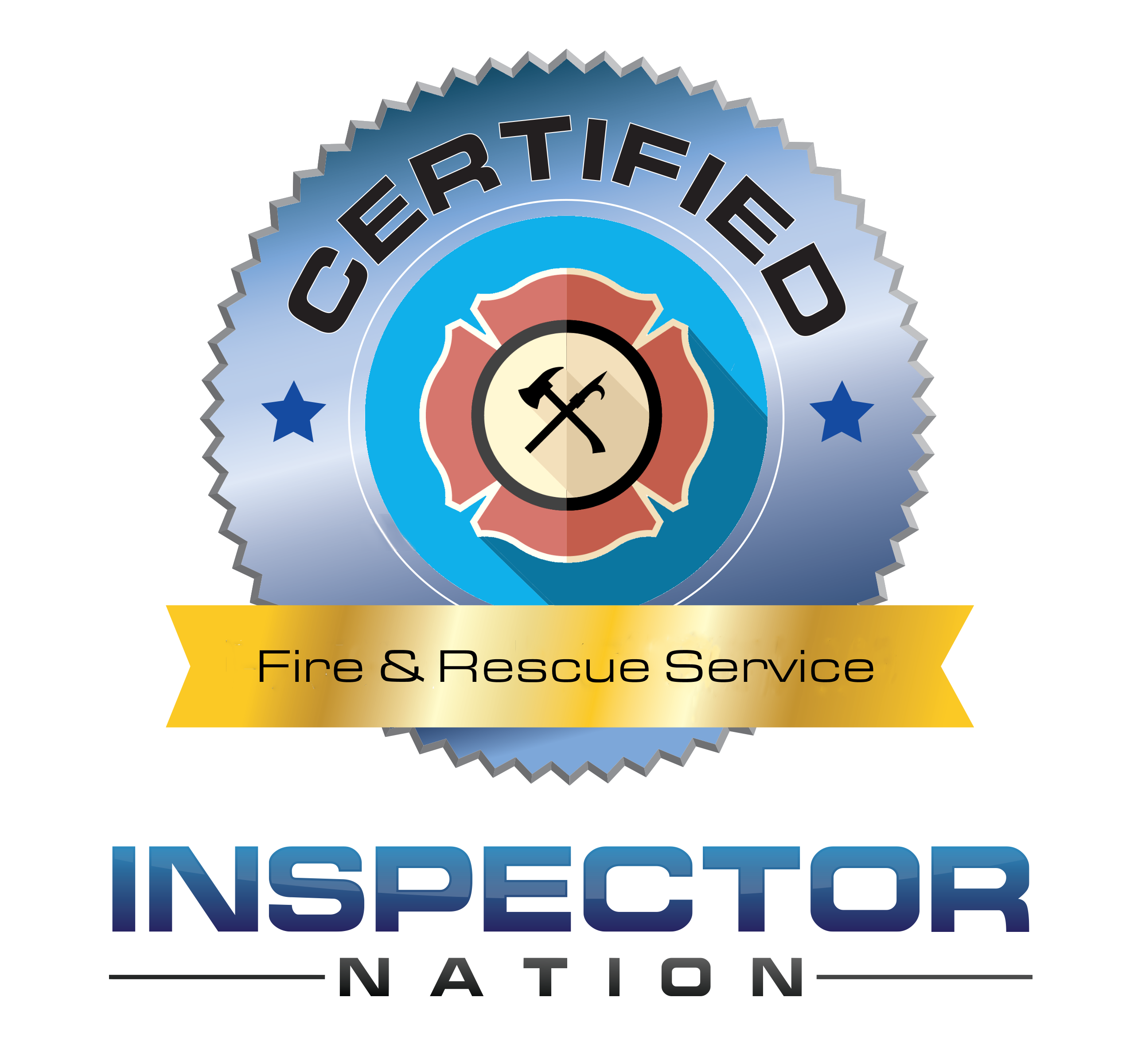 fire and rescue service inspector nation certified home inspector badge emblem icon