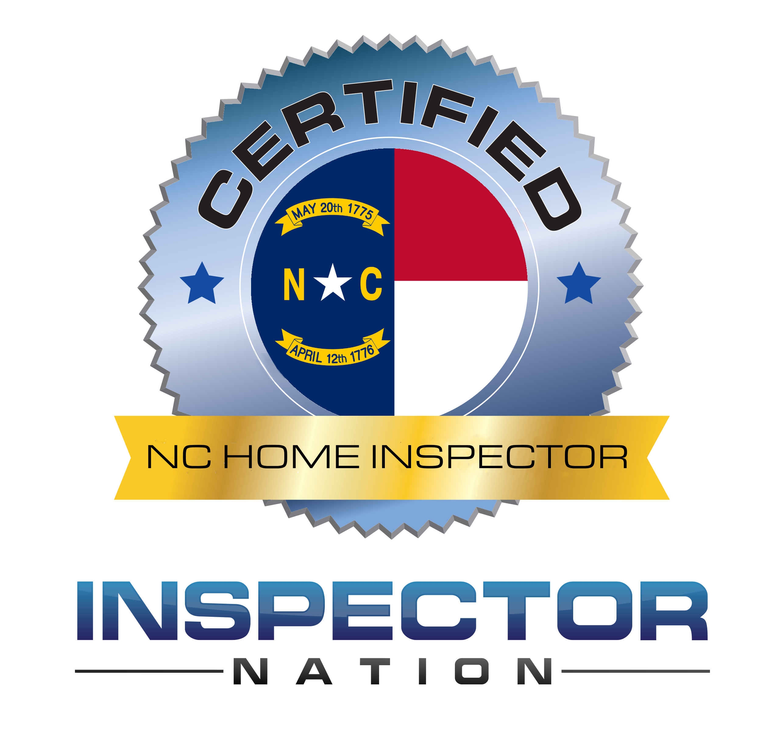 inspector nation certified home inspector badge north carolina nc
