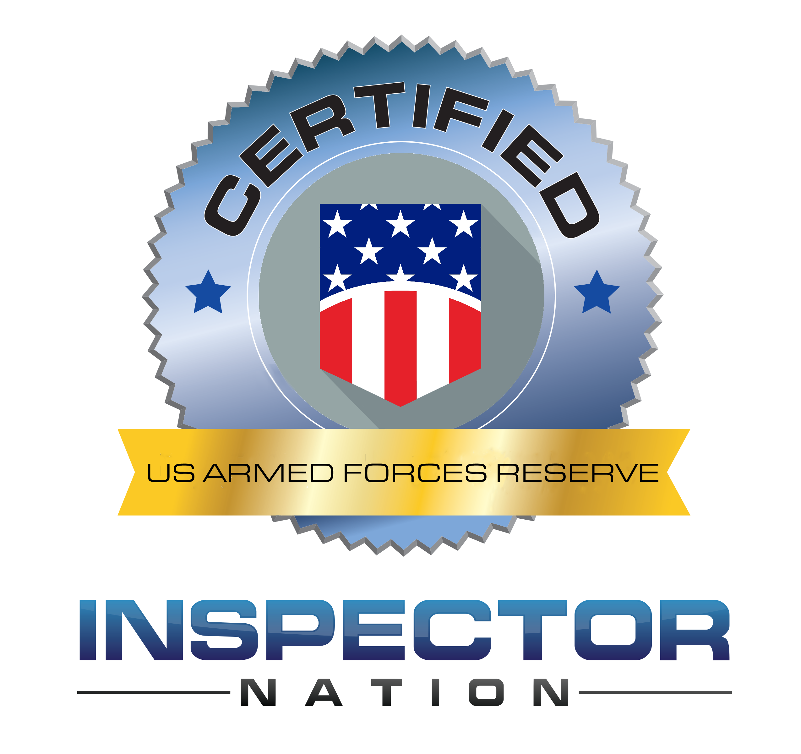 united states us armed forces reserve inspector nation certified home inspector badge emblem icon