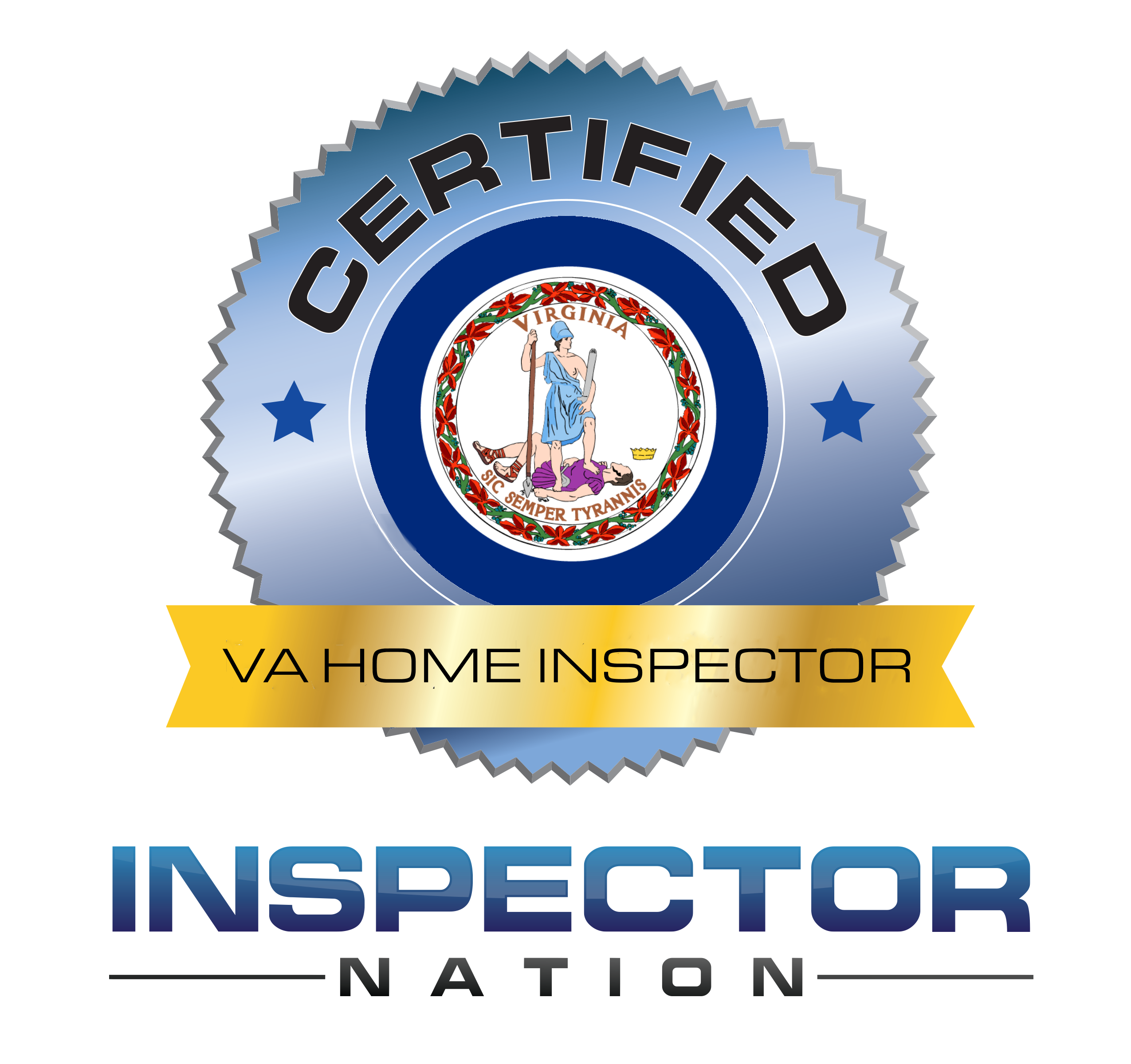 inspector nation certified home inspector badge virginia va