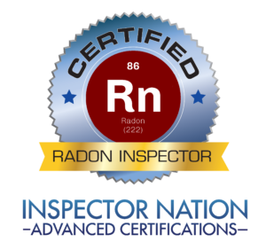radon measurement professional standard analytical specialist inspector nation certified home inspector badge emblem icon